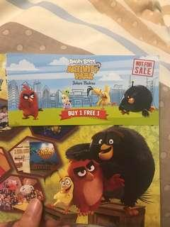 Angry Bird Ticket Buy 1 Free 1