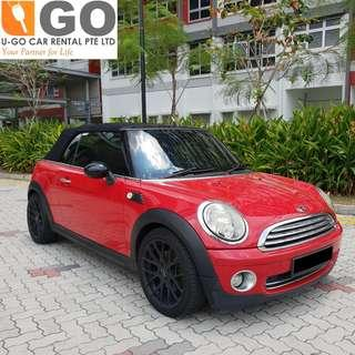 Mini Cooper Convertible for Rent  wedding car rental FREE decor.