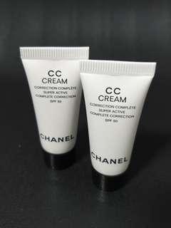 🚚 Chanel CC Cream SPF50 Complete Correction #10 #20 Beige 5ml