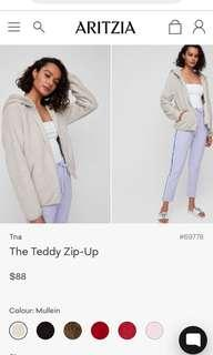 Aritzia Tna teddy zip up