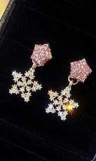 (FREE DELIVERY) Glittery 2-way star earring