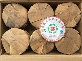 2009年褔海易武正山野生大樹茶,普洱生茶,357克左右/餅