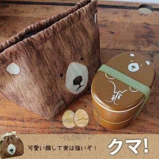 🇯🇵日本製Puloose 🐻熊仔 LUNCH BOX SET🍱✨