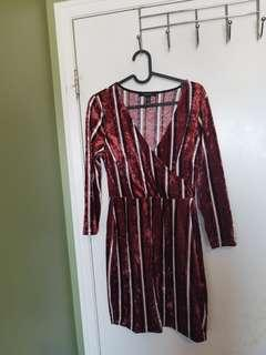 F21 velvet party dress size M