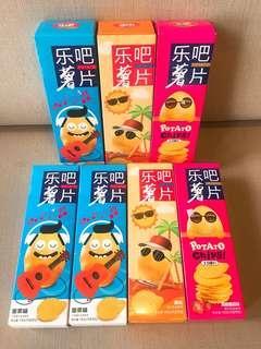 {READY STOCK}乐吧薯片108g焙烤非油炸风情土豆脆片休闲食品