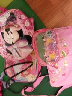 🚚 Girls cartoon bags all sizes