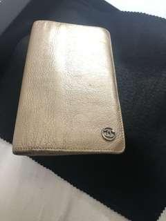 Chanel authentic gold long leather wallet  金色銀包