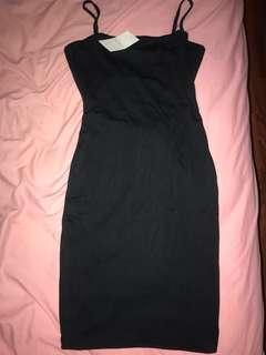 Black mini cutout dress kookai