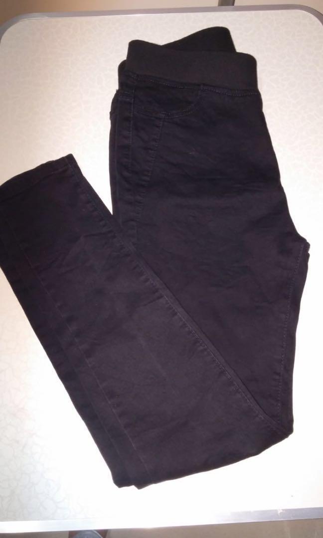 彈性黑色/黑灰色牛仔褲 31吋腰