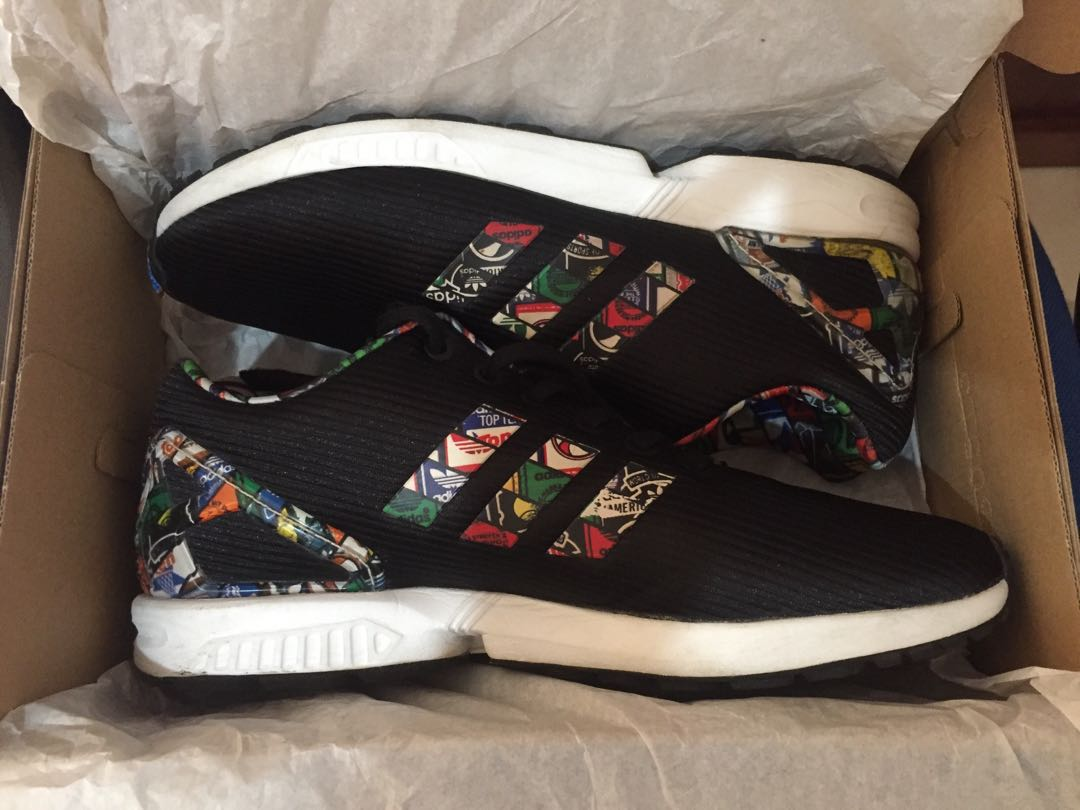 Adidas Originals Zx Flux Logos Multi Color Black Men S Fashion