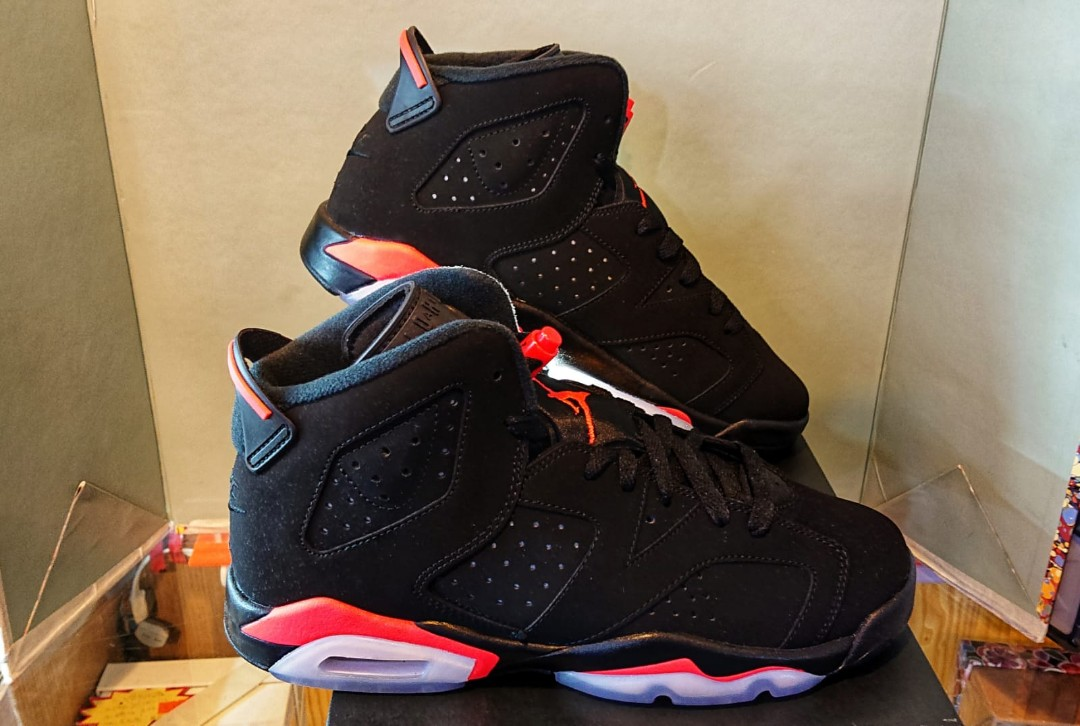 huge discount ada46 4709a Air Jordan 6 Retro 2019 GS 384665 060 Infrared 5.5Y 38 23.5cm 6.5Y ...