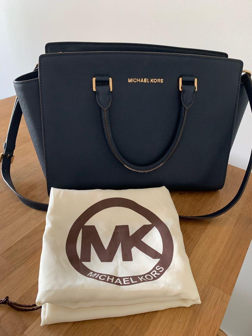 Authentic Michael Kors Navy Handbag