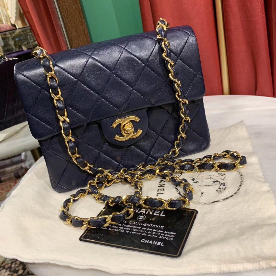 6e0838ba6cd6 Authentic Vintage Chanel Square Mini, Barangan Mewah, Beg dan Dompet di  Carousell