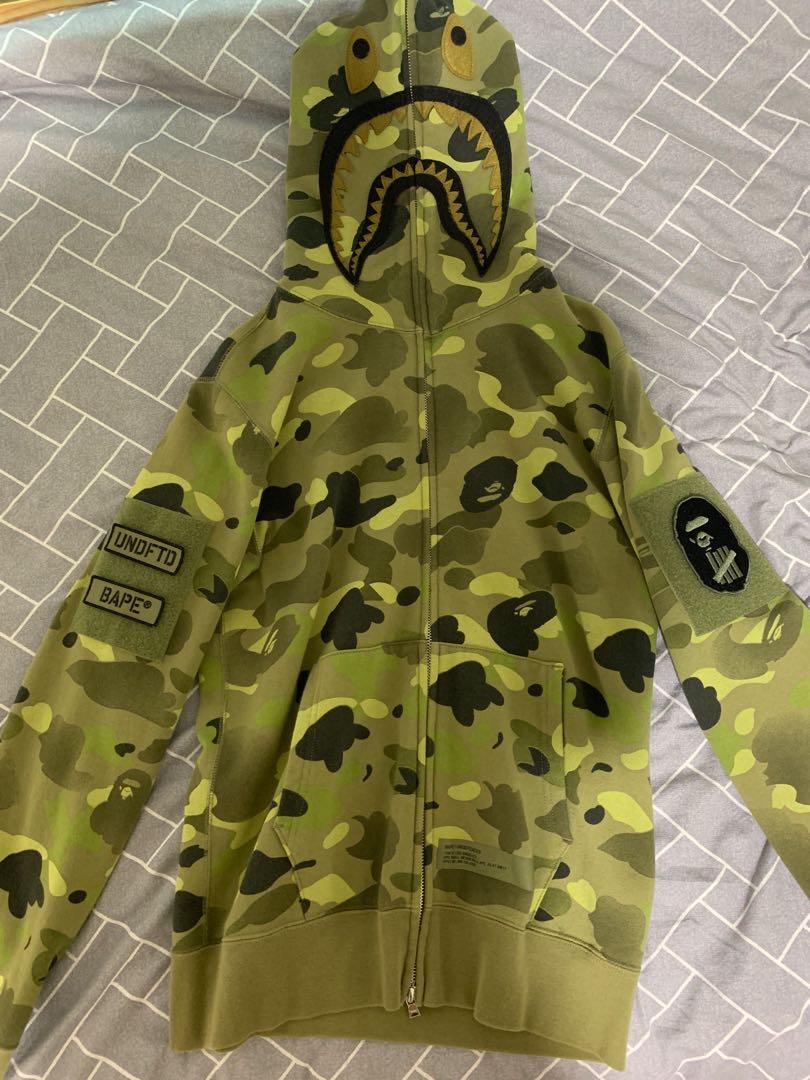 c8cfc3d8 Bathing Ape x Undefeated 2017 Shark hoodie, Men's Fashion, Clothes ...