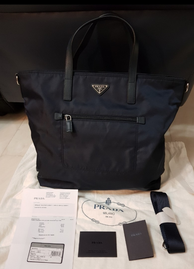 Brand New 100% Authentic Prada Nylon Bag B2530T Tessuto Navy Blue ...