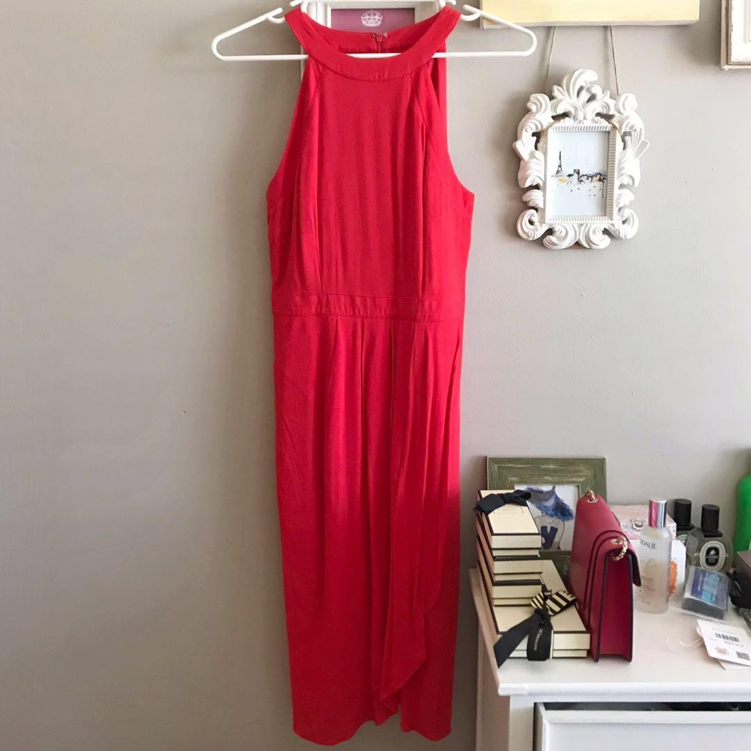 Brand new Cooper street coral red midi dress size 8