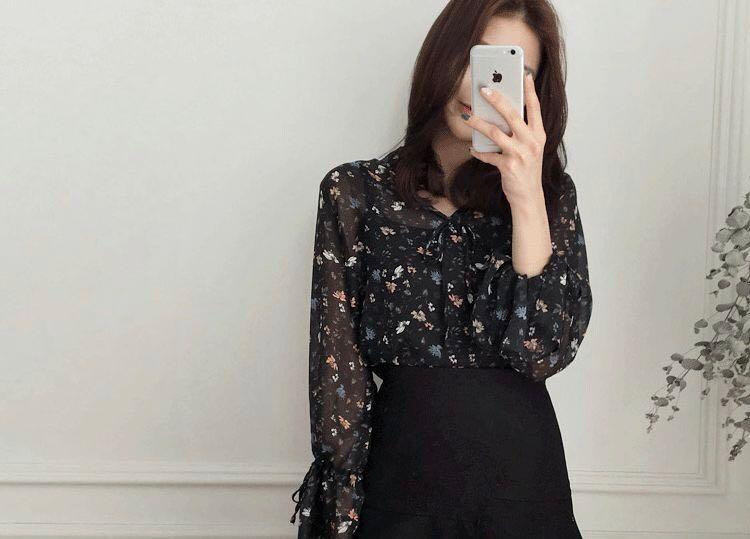 Brand New Floral Chiffon Blouse Top