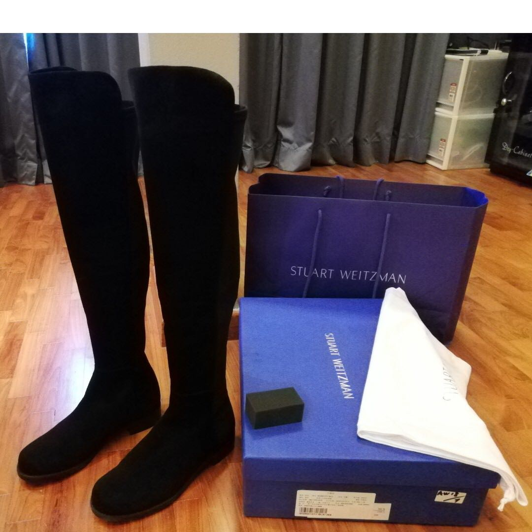 4caf194a4fb Brand New  Stuart Weitzman 5050 OTK boots in Black suede