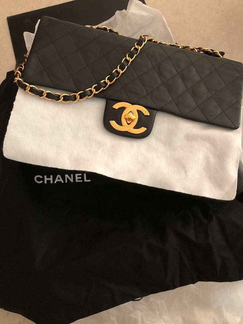 210ee80db173 Chanel style vintage bag, Luxury, Bags & Wallets, Handbags on Carousell