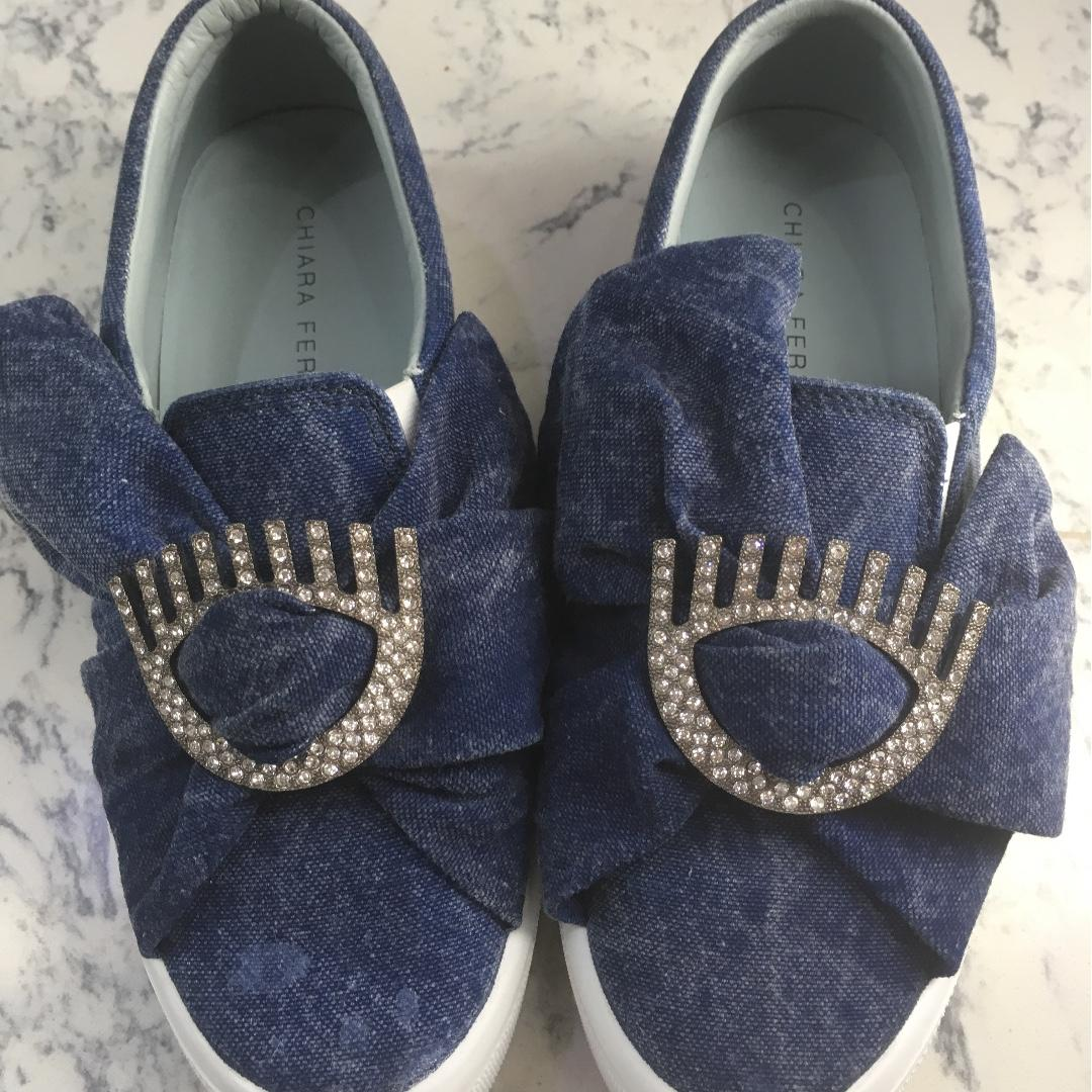 Chiara Ferragni Denim Slip On Sneakers