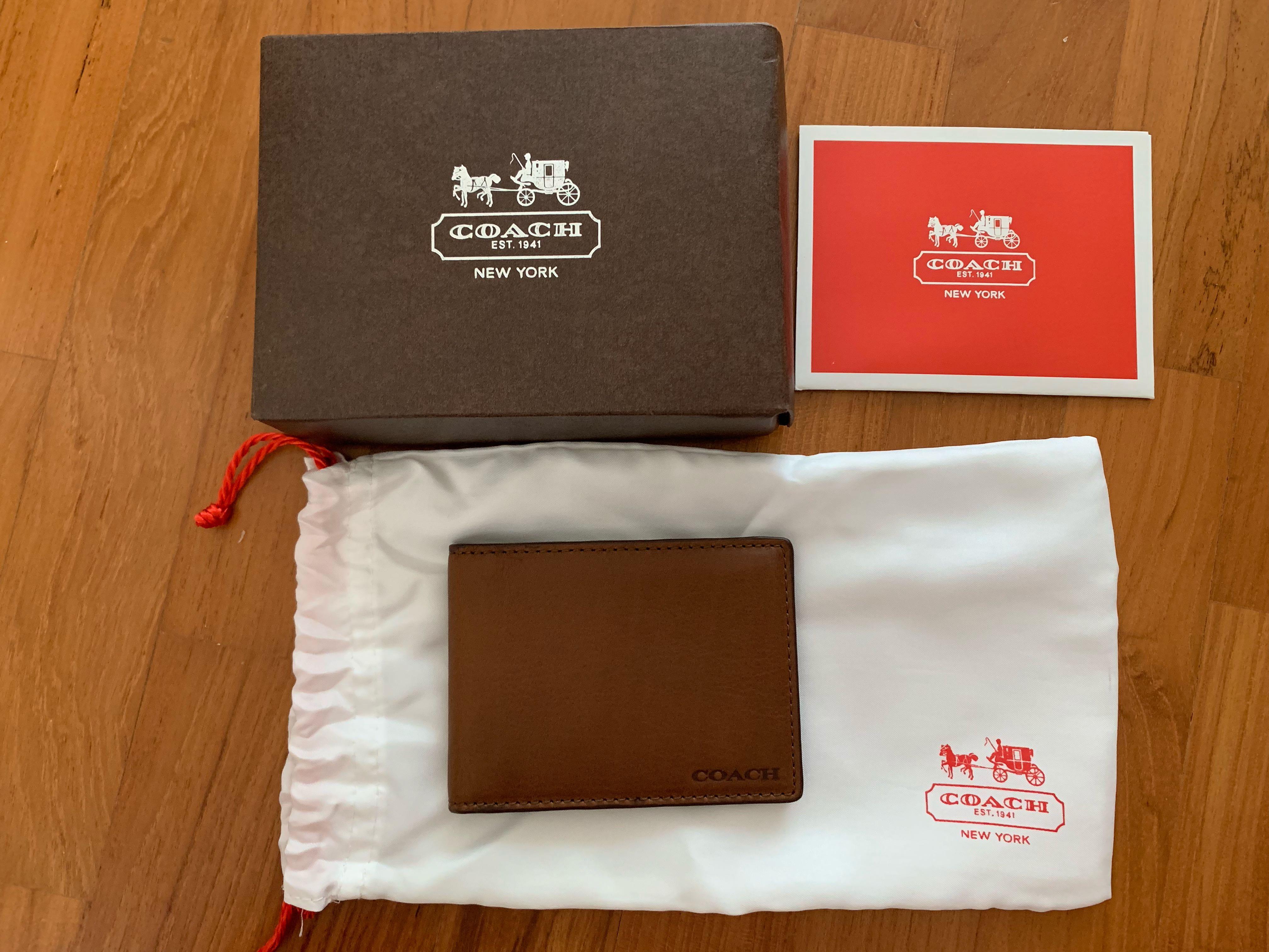 new product fac3f 342f4 Coach bifold card case