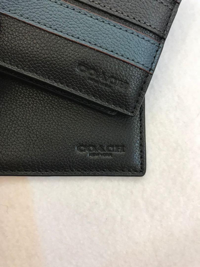 Coach Mens Wallet 24649 ready stock card holder wallet purse