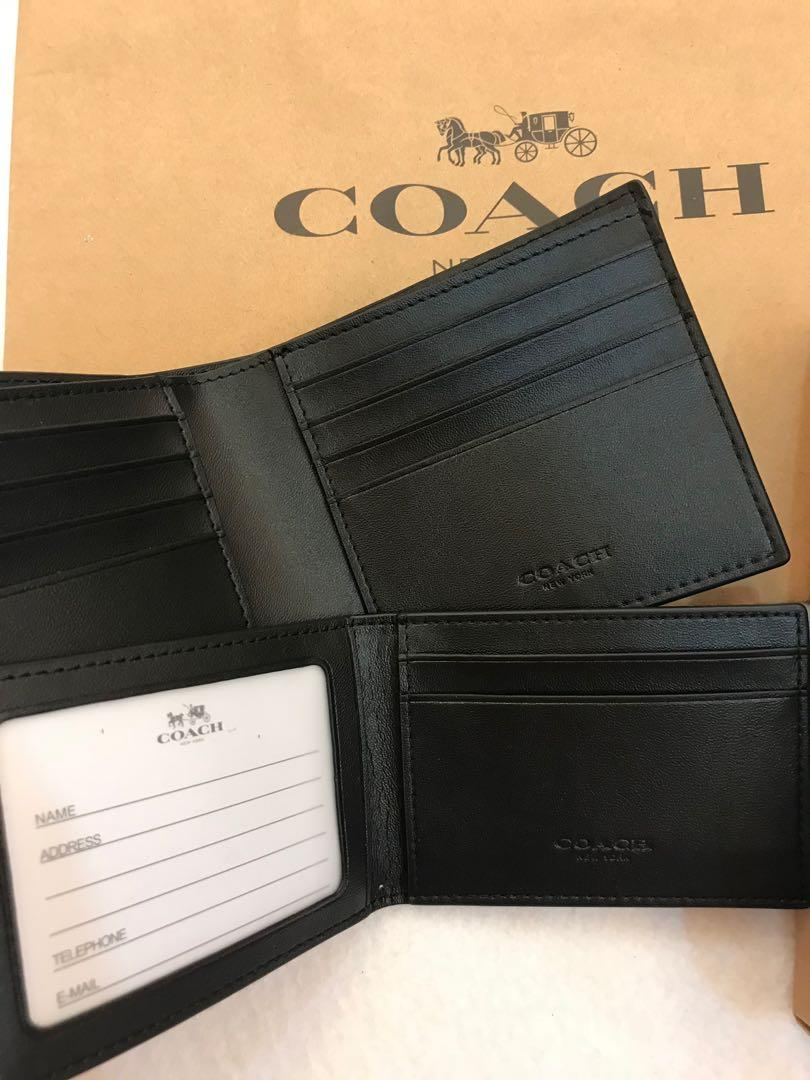 Coach Mens Wallet 26072 Authentic wallet ready stock