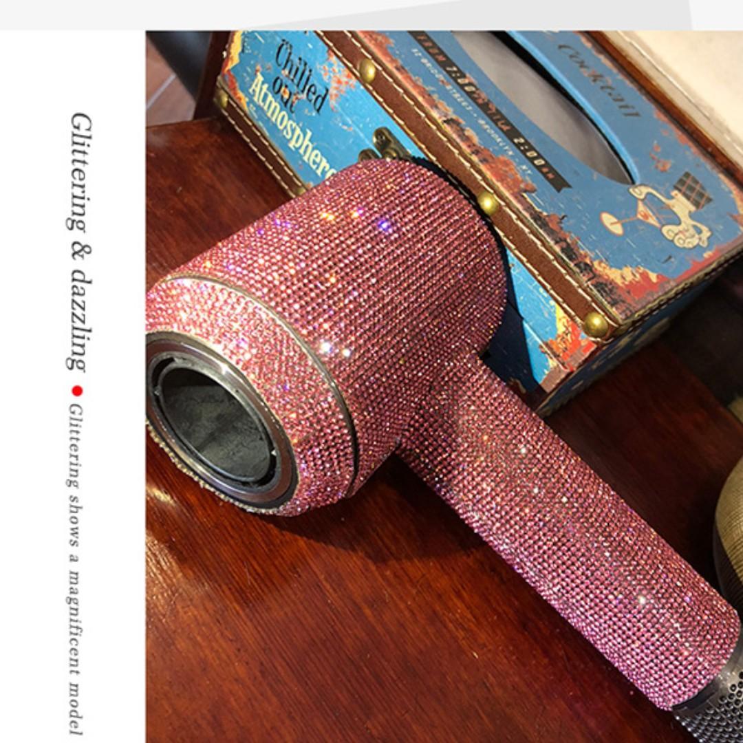 Dyson 風筒專用閃石保護貼膜 (粉紅閃石) Shinning Protective Sticker