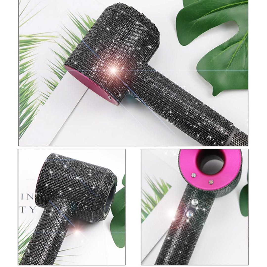 Dyson 風筒專用閃石保護貼膜 (黑色閃石) Shinning Protective Sticker