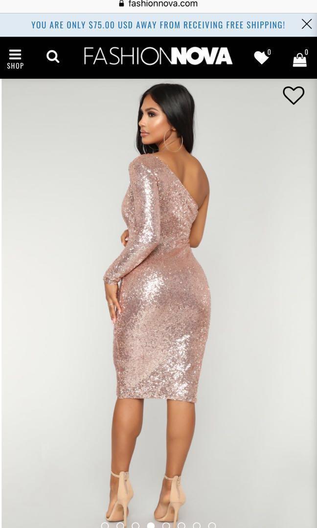 FN Fiona Sequin Dress