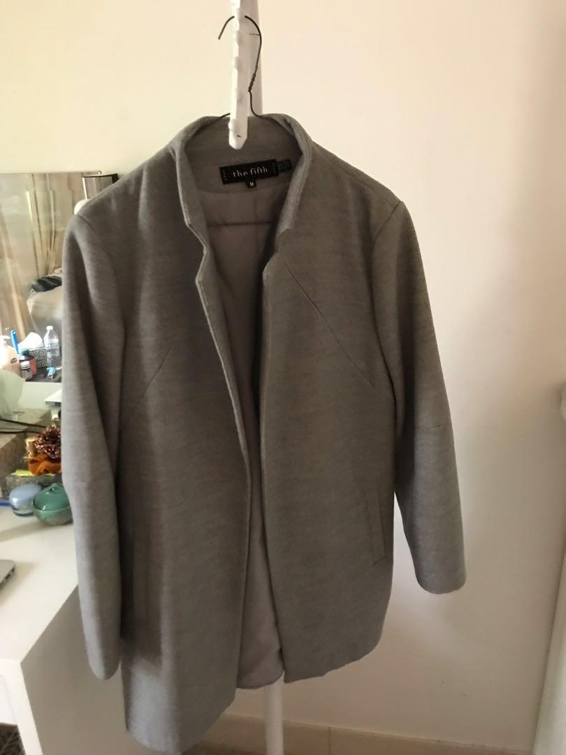 Grey marle winter coat by The Fifth Label. Worn once. Medium.