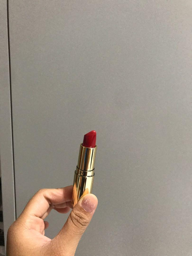 h&m cream red lipstick