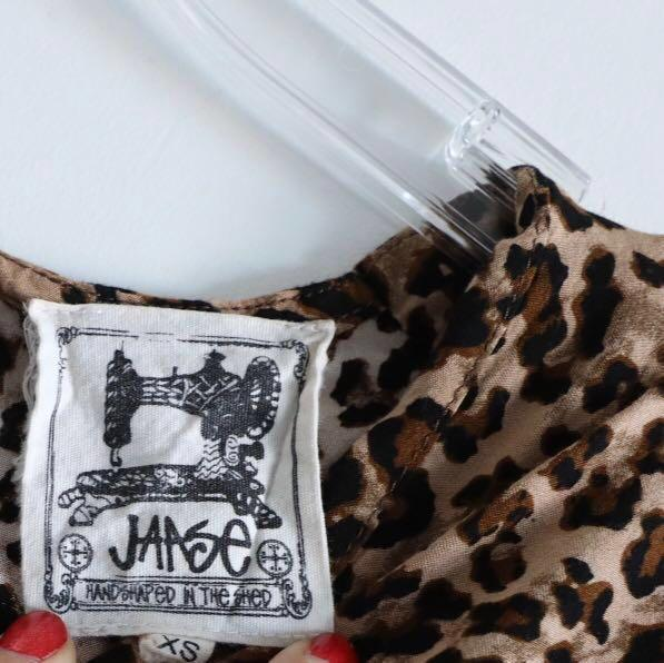 Jaase Australian boho brand leopard animal print dress XS S small