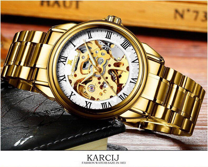 1d59e7d53 Karcij Mechanical [ Gold/White ], Men's Fashion, Watches on Carousell
