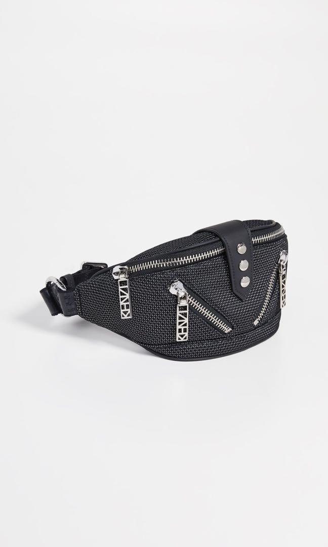 13503989 Kenzo Black Logo Zip Waist/Sling Pouch