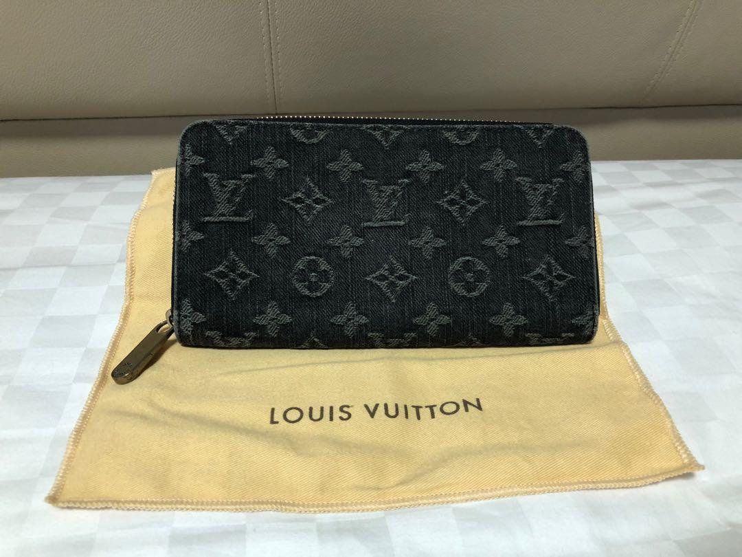 82bc5eae Louis Vuitton Zippy Wallet Denim Noir Black