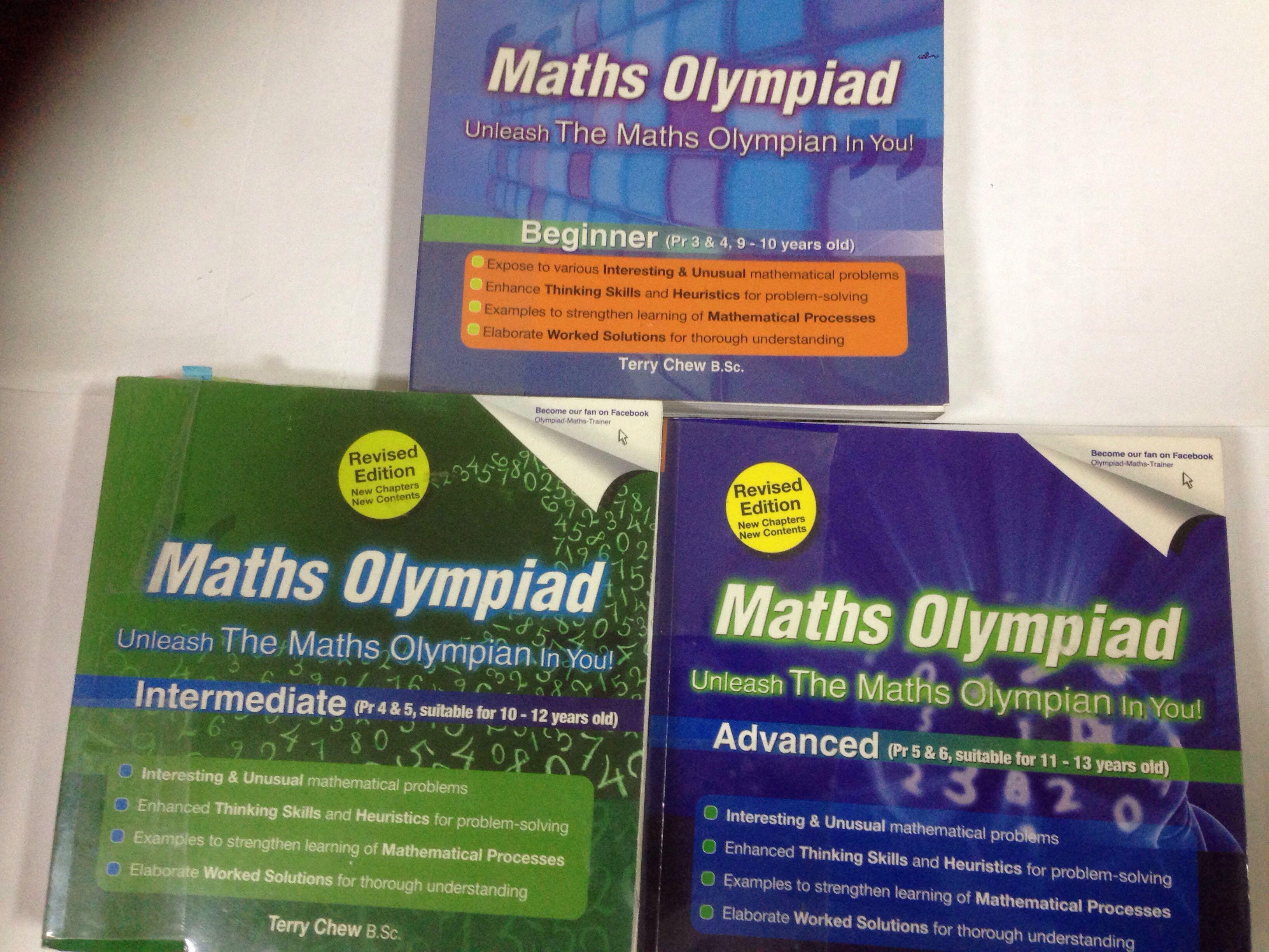 Maths olympiad book | terry chew | beginner | intermediate