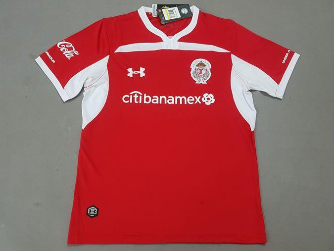 pretty nice 89310 bc93f PO] 18-19 Deportivo Toluca Home Red Jersey Shirt, Sports ...