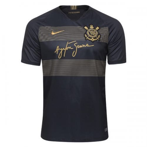 742339b7e PO  18-19 SC Corinthians Third Away Black Jersey Shirt