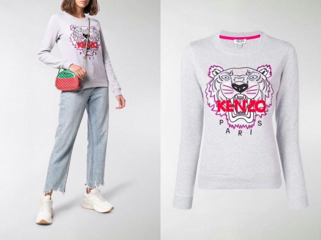 PO SALE 🔥 ETA 4 weeks KENZO Tiger Sweatshirt Woman White XS S M Grey XS S M