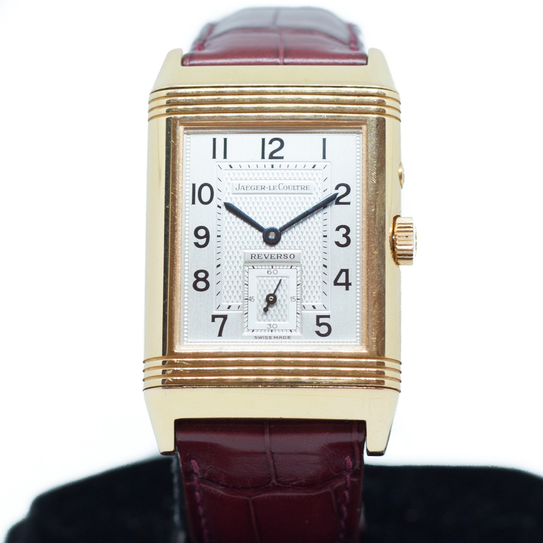 9128d0b0321b Preowned Jaeger-LeCoultre Reverso Duo Face Night   Day Rose Gold Ref ...