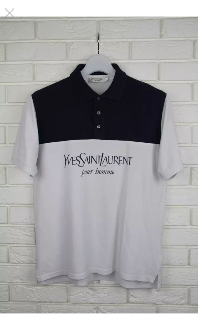 9e9b7b3c854 Saint Laurent Paris x Ysl Pour Homme Logo Polo, Men's Fashion ...
