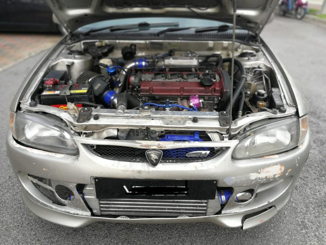 Satria GTi Original 99' GSR TURBO 1.8 (M). Include ORIGINAL SATRIA ENGINE & BUMPER