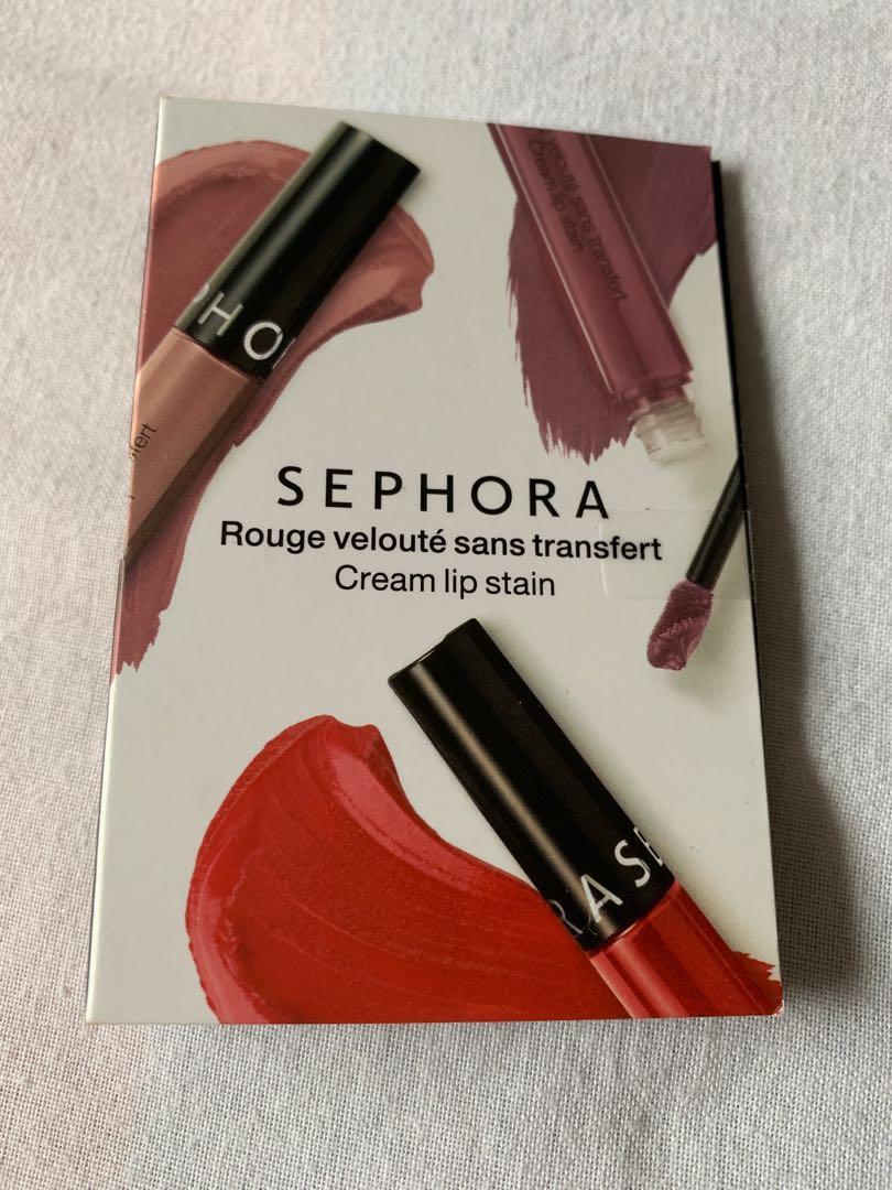 Sephora mini cream lip stain #01 Always red