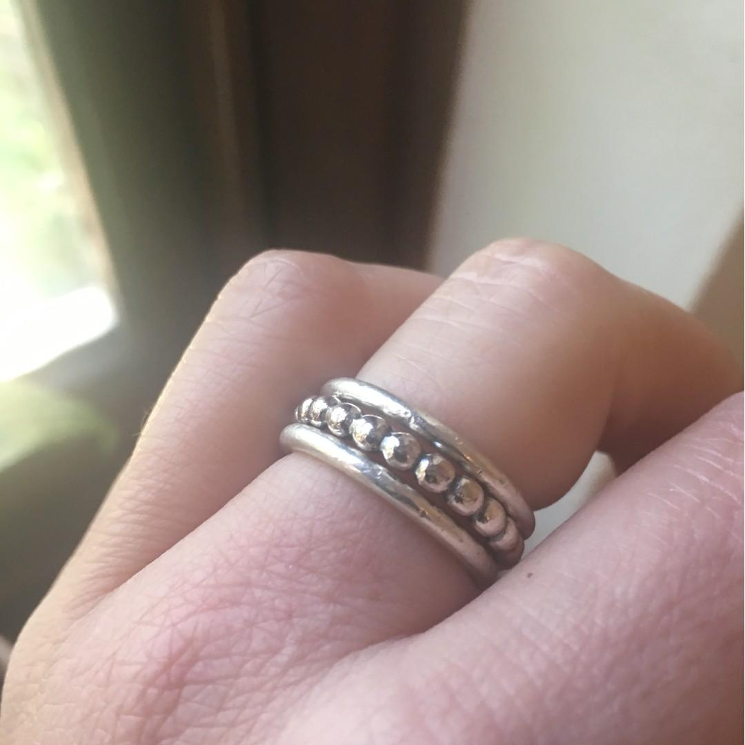 Set of 3 rings in Sterling Silver (54)