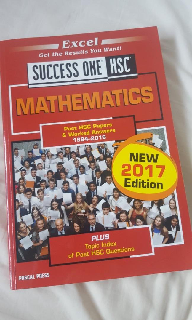 Success One HSC Mathematics 2 unit past HSC papers + worked answers 1994-2016