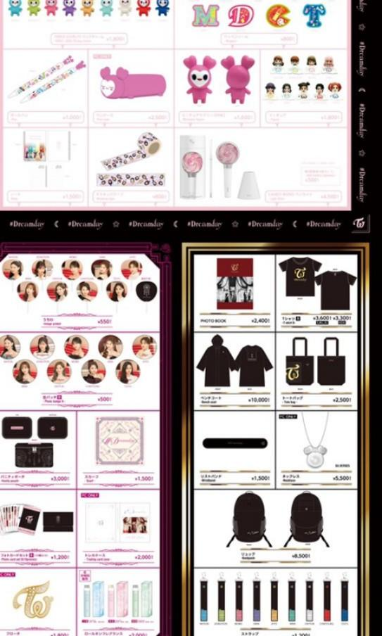 TWICE DREAMDAY DOME TOUR OFFICIAL MERCH IMAGE PICKET FAN