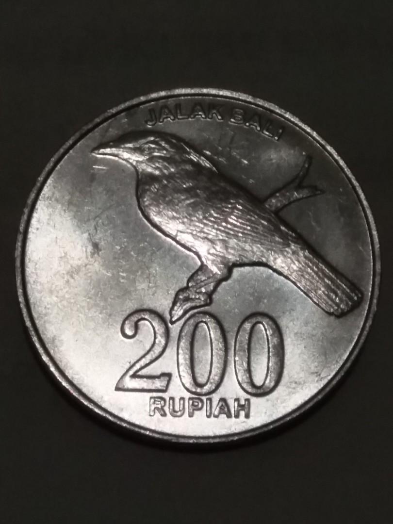 Uang koin 200 rupiah jalak bali 2003