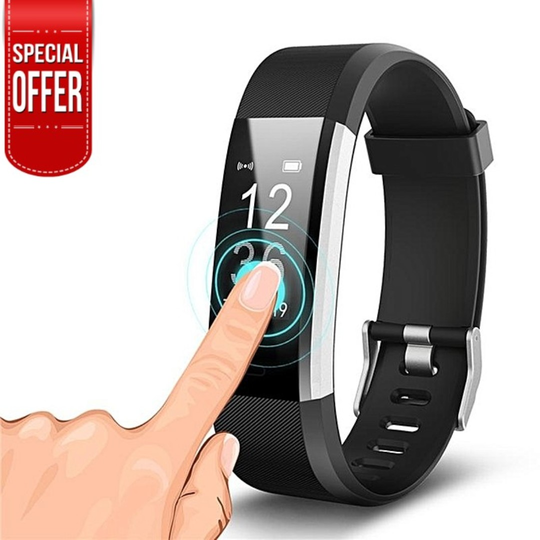 Waterproof Fitness Tracker Smart Watch With Heart Rate Monitor