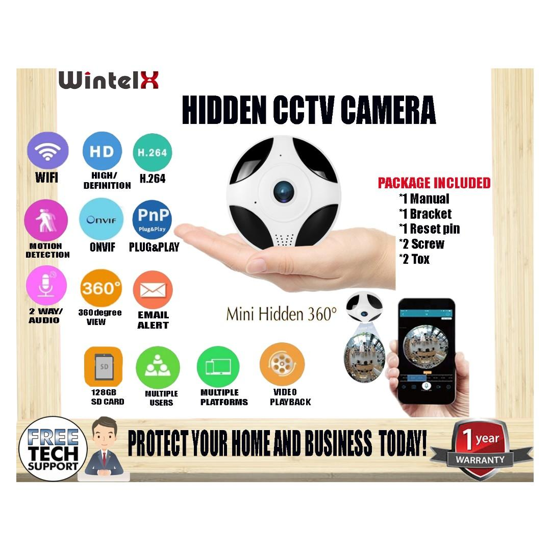 WintelX ICsee CCTV Smart Home Security Camera Ceiling VR IR Nigh